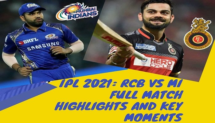 Here is the full Yesterday IPL match highlights and result of RCB vs MI match. Read on to know the full match highlights and key moments.